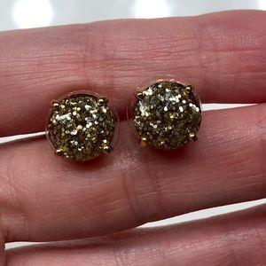 Kate Spade Sparkle Gold Glitter Studs